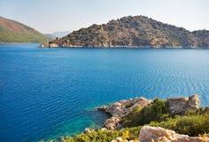 Paisagem do mar Mediterrâneo. Fotografia de Stock
