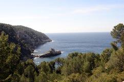 Paisagem do mar perto de Bandol, França Imagens de Stock Royalty Free