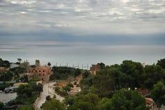 Paisagem do mar perto de Barcelona Fotografia de Stock Royalty Free
