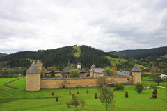 Paisagem do monastério de Sucevita - Moldávia, Romania Imagem de Stock Royalty Free