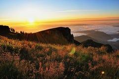 Paisagem do nascer do sol da montanha Imagens de Stock