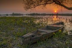 Paisagem do nascer do sol no parque nacional de Biebrza, Polônia imagens de stock
