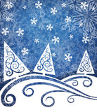 Paisagem do Natal Imagens de Stock Royalty Free
