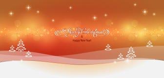 Paisagem do Natal Fotografia de Stock Royalty Free