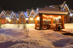 Paisagem do Natal do tempo de inverno Fotografia de Stock Royalty Free