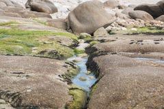 Paisagem do oceano Bretagne França fotografia de stock