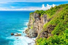 Paisagem do oceano e das rochas fotografia de stock