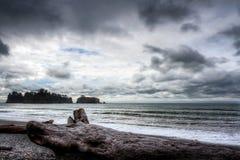 Paisagem do oceano na costa para o noroeste do Pacífico fotografia de stock