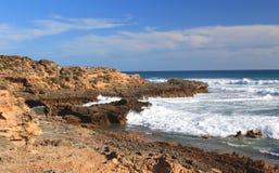 Paisagem do oceano, oceano do sul, Bass Strait, Austrália Foto de Stock Royalty Free