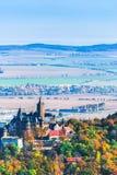 Paisagem do outono ao lado do castelo de Wernigerode - Alemanha imagens de stock royalty free