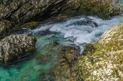 Paisagem do outono da natureza Cachoeira em Soteska Vintgar Eslovênia Imagem de Stock