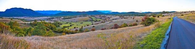 Paisagem do outono da opinião paoramic da região de Lika Imagens de Stock