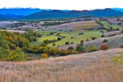 Paisagem do outono da região de Lika Imagem de Stock