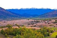 Paisagem do outono da região e do Velebit de Lika Fotos de Stock
