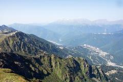 Paisagem do outono de montanhas caucasianos Fotografia de Stock