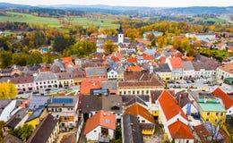 Paisagem do outono de Weitra, Áustria fotos de stock royalty free