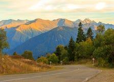 Paisagem do outono nas montanhas Foto de Stock Royalty Free