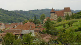 Paisagem do país da égua de Copsa, a Transilvânia, Romênia foto de stock royalty free