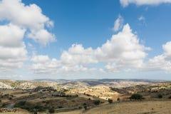 Paisagem do país na região de Troodos de Chipre Foto de Stock