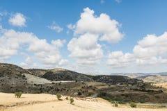 Paisagem do país na região de Troodos de Chipre Imagens de Stock Royalty Free