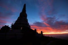 Paisagem do pagode, montanha de Inthanon Fotos de Stock Royalty Free