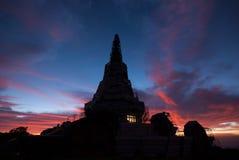Paisagem do pagode, montanha de Inthanon Foto de Stock