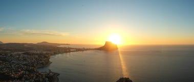 Paisagem do panorama de Costa Blanca Foto de Stock Royalty Free