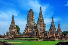 Paisagem do parque histórico de Ayutthaya em Ayutthaya O famoso Imagens de Stock Royalty Free