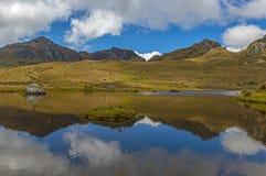 Paisagem do parque nacional de Cajas, Cuenca, Equador imagens de stock royalty free