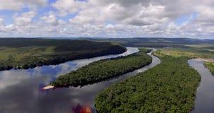 Paisagem do parque nacional de Canaima, Venezuela filme