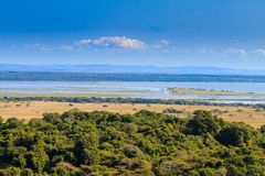 Paisagem do parque do pantanal de Isimangaliso Fotos de Stock Royalty Free