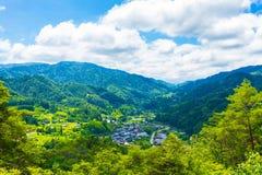Paisagem do ponto de vista de Tsumago foto de stock royalty free