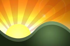 Paisagem do por do sol Imagem de Stock Royalty Free