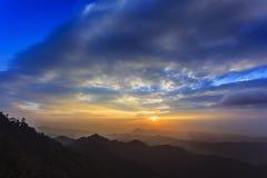 Paisagem do por do sol Foto de Stock