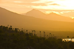 Paisagem do por do sol de Bali Imagens de Stock Royalty Free