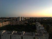 Paisagem do por do sol de Roma Fotografia de Stock