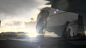 Paisagem do por do sol de Londres filme