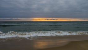 Paisagem do por do sol do oceano foto de stock