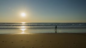 Paisagem do por do sol do oceano imagem de stock royalty free