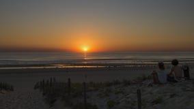 Paisagem do por do sol do oceano fotos de stock