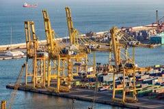 Paisagem do porto da cidade Barcelona Fotografia de Stock Royalty Free