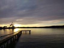 Paisagem do porto de Larvik, Noruega Paisagem escandinava Imagens de Stock Royalty Free
