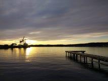Paisagem do porto de Larvik, Noruega Paisagem escandinava Imagens de Stock
