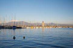 Paisagem do porto em Desenzano, lago Garda Fotografia de Stock