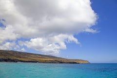 Paisagem do promontório, Ilha de Páscoa, o Chile Imagens de Stock Royalty Free