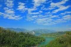 Paisagem do reservatório de Nan-Hua, Tainan, Formosa Fotografia de Stock Royalty Free