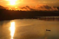 Paisagem do rio Fotos de Stock Royalty Free