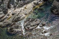 Paisagem do rio de Moraca em Montenegro, Europa fotografia de stock