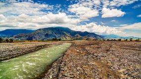 Paisagem do rio de Ramu e do vale, Madang Papua Gunea novo Fotos de Stock