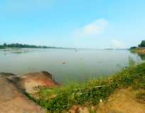 paisagem do rio do khong Imagem de Stock